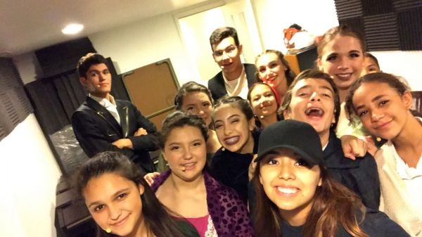 Backstage of into the woods!
