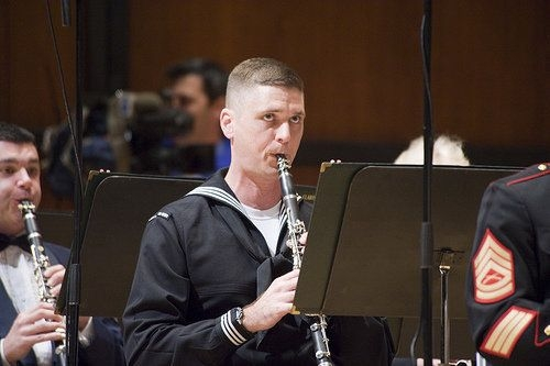Performing during a Joint Forces Concert Band in Newport News, Virginia, November 2011