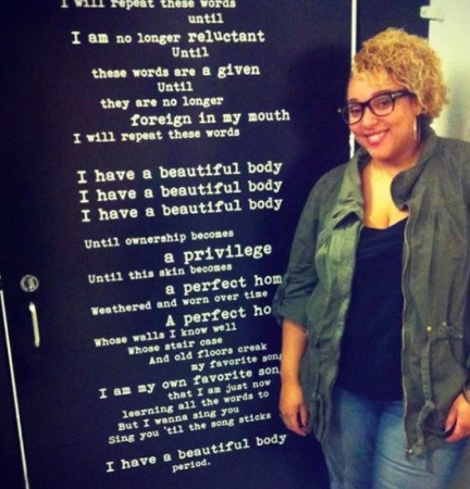 """The Installation of my poem """"Beautiful Body"""" at California State University, Los Angeles"""
