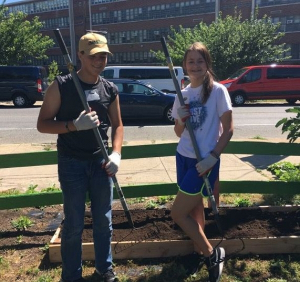 This photo is from when I went to Philadelphia for a missions trip with my church group. We go on mission trips every summer! i