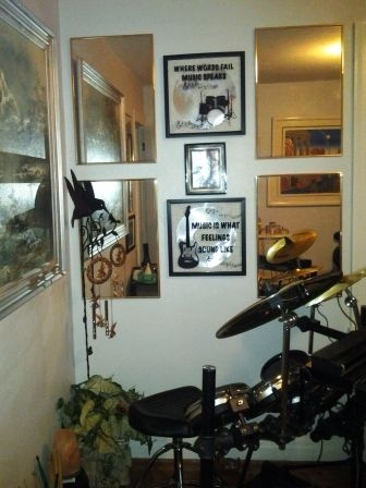 #3 - Pictured: electronic drum kit and wind chimes!