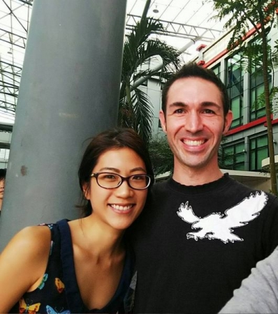 My wife and me at my workplace in Malaysia.