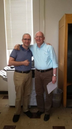 With composer Daniel Bukvich