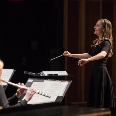 Conducting the West Chester University Wind Ensemble, Fall 2017
