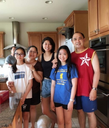 One of my beloved families who loves to feed me after I teach the girls their lessons.