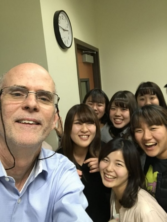 With my Japanese students in the classroom at SDSU.