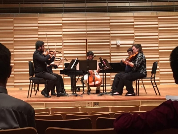Performing with the KOBE Quintet in Rosch Recital Hall