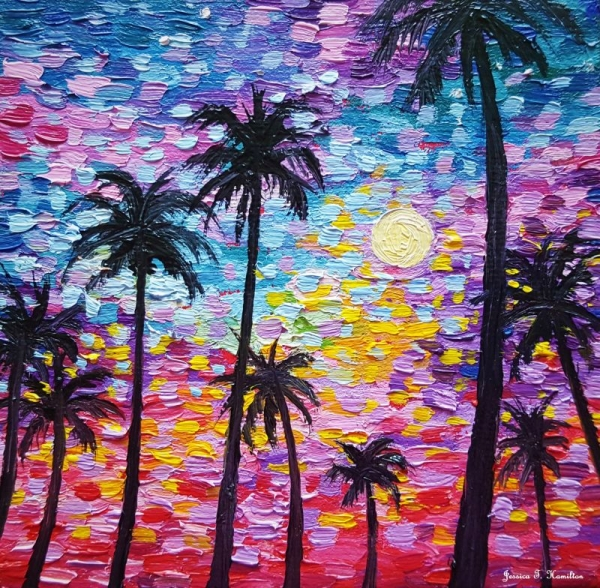 Sunsets in Florida, Oil on Canvas, Jessica Hamilton 2018
