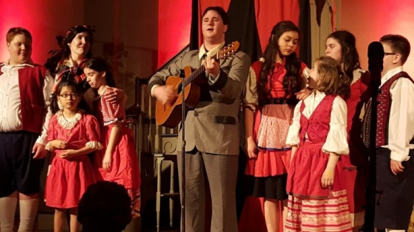 Performing as Captain Von Trapp in The Sound of Music in Salem, MA.