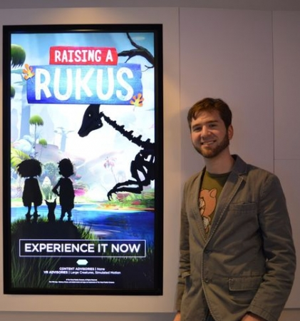 "At the official release of the VR product I worked on with The VR Company, ""Raising a Rukus!"""