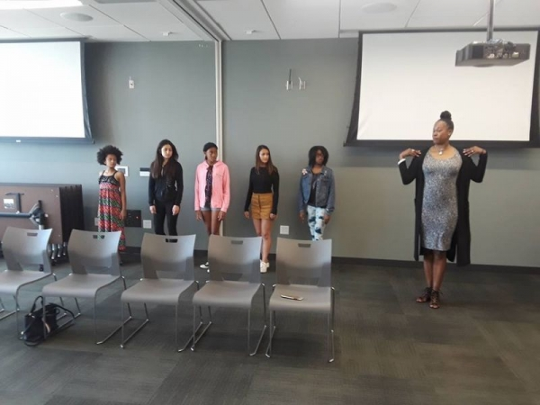 Teaching a few girls for our fashion show 2018.