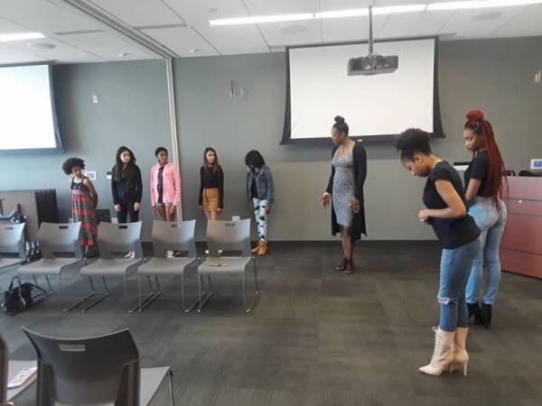 Training beginner models for our yearly Fashion Show.