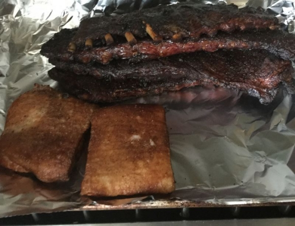 Smoked Ribs and Pork Belly
