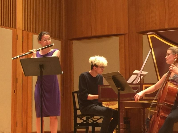 Performing at the International Baroque Institute at Longy