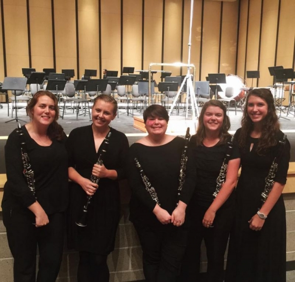 Clarinet Section at ATU 2016