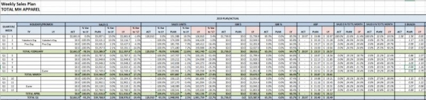 Example of a Weekly Sales Plan file I can help you create for your business.