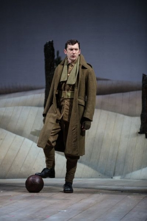 """As Smithy in """"The Christmas Truce"""" at the Royal Shakespeare Company, 2014."""