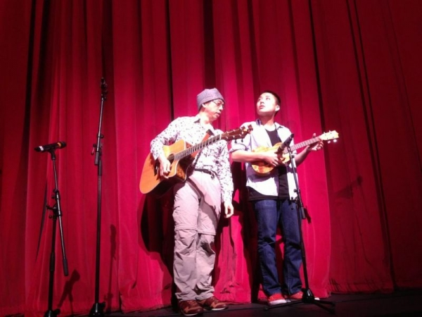 My friend and I opened for a performance by the BYU Ambassadors when they toured Asia.