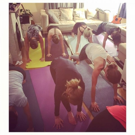 Yoga and wine night in your own home!