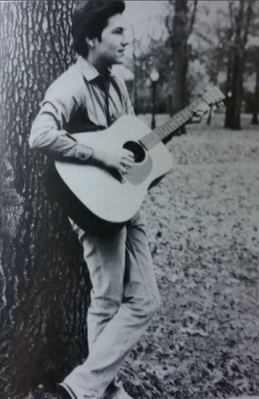 Playing a Martin D-18 during my earlier days in high school.