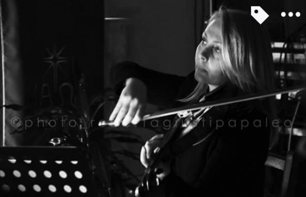 It was taken during one of my concerts in Italy with trumpeter and composer Luca Aquino.
