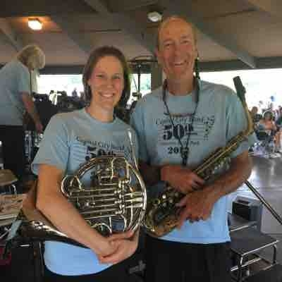 My dad and I play in a summer band together. We play weekly concerts in a park. I love that music connects people and families!