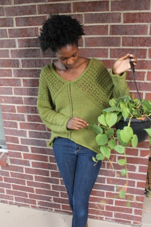 Lace work sweater  Pattern Available on Ravelry: Yaw