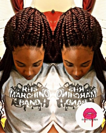 Box braiding style. U-Part, medium size box braids. Learn how to do these like a pro in my braiding class now!