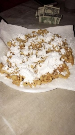 Funnel cake! Learn how to make this easy recipe in my class NOW!  Cook: Essence