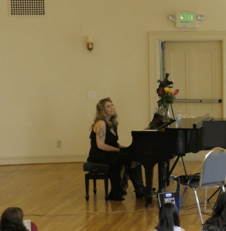 Me performing one of my original compositions in 2018