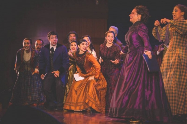 """As Lize in """"The Sorceress"""" at the National Yiddish Theatre Folksbiene"""