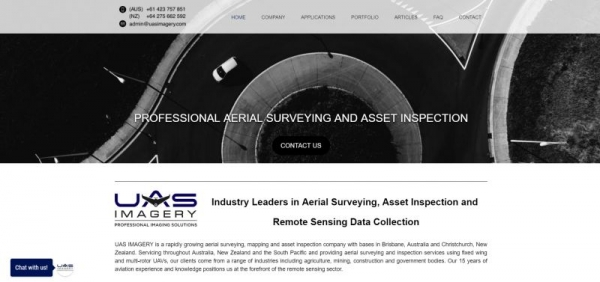 A website build for a drone surveying and mapping company.