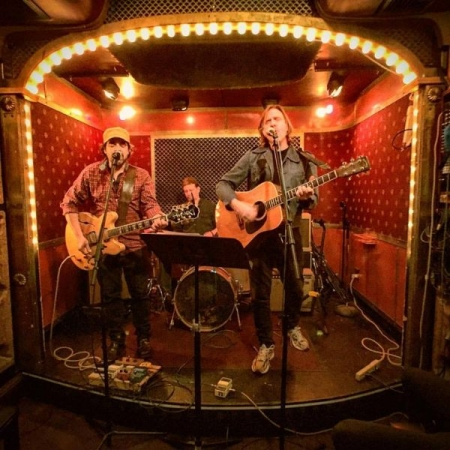 With Matt Keating at Pete's Candy Store in Brooklyn, NY