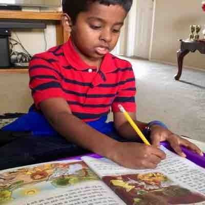 Amrith started 3rd Book Of hindi