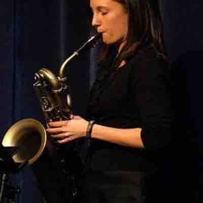 Playing the baritone saxophone in a concert