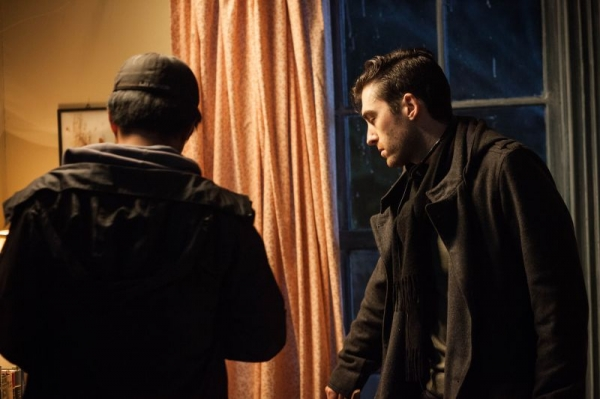 "Zach directing on set of ""The Lightkeeper."""