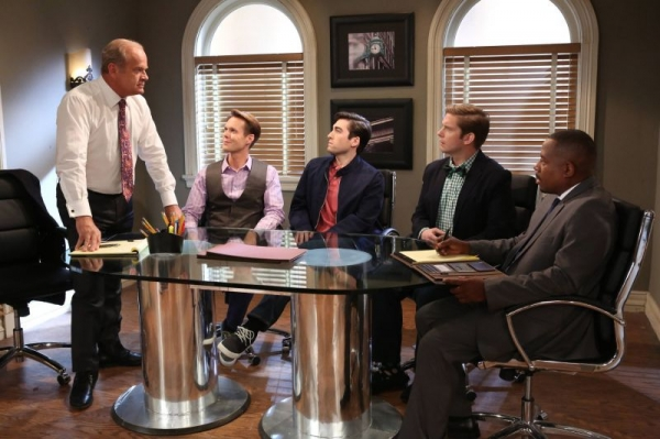 "Zach guest-starring in FX's ""Partners,"" with Kelsey Grammar and Martin Lawrence."
