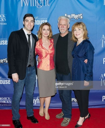 "The cast of Noel Coward's ""A Song at Twilight"" at the Pasadena Playhouse."