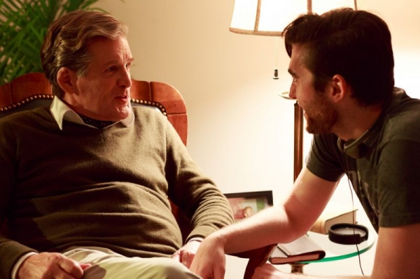 """Zach directing two-time Tony Award nominee Anthony Heald (""""Silence of the Lambs"""") on set of """"The Stairs."""""""