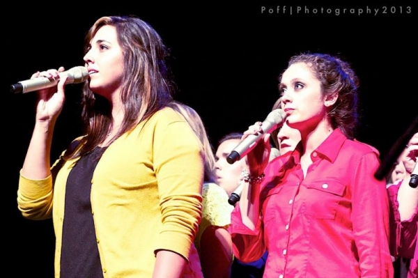 Singing with my vocal ensemble in 2014.