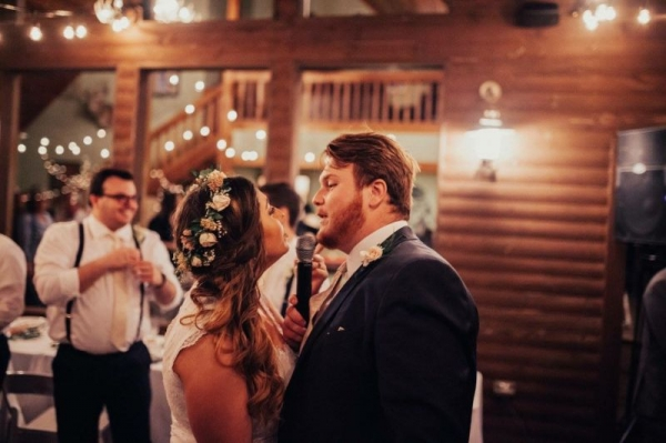 Getting to sing with my husband at our wedding reception was amazing.