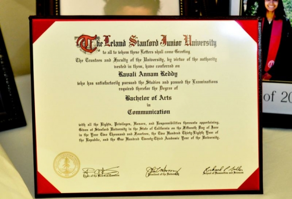 This is my degree from Stanford.