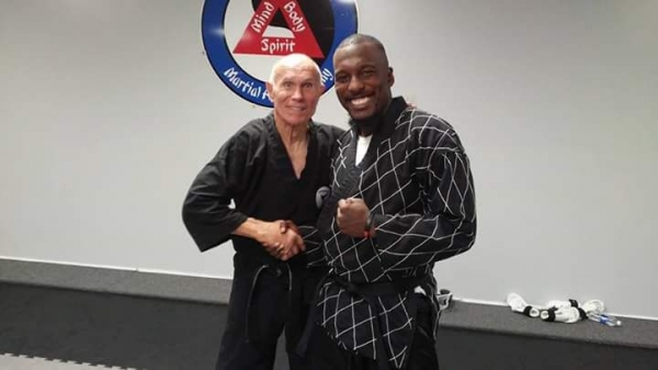 Me training with Grand Master Bill (Superfoot) Wallace