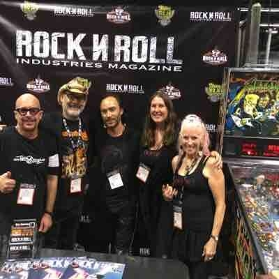 Hanging with my friends at RockNRoll Industries Magazine