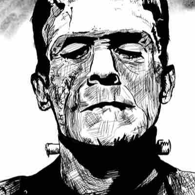 Drawing of Frankenstein I did during Inktober
