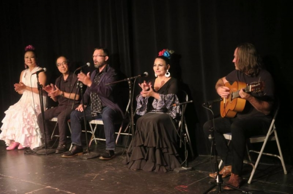Singing for a flamenco show
