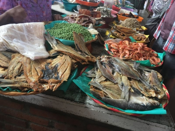Market in Teoltitlan, Oaxaca. One of the culinary wonders of Mexico