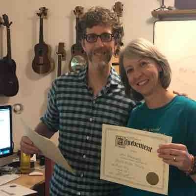After attending Uke Teacher training workshop with Kevin Carrol