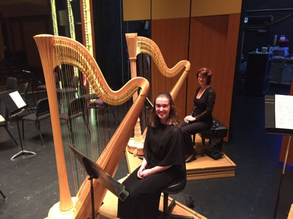 My collegiate Hartt student and me in an orchestra concert