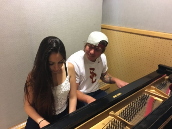 At Sunset Sound Recorders writing with Alexei Misoul (BMI Award Winner)